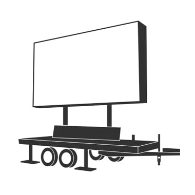 LED Wall Trailer 12qm